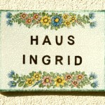 Türschild Haus Ingrid